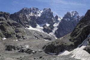Le Mont Pelvoux depuis le Glacier Noir