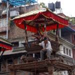 Plateforme dressée pour l'Indra Jatra