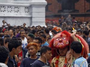 En attendant la Kumari - Katmandou