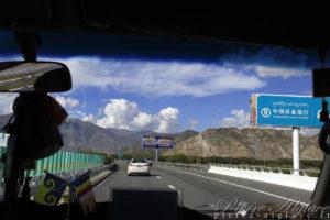 Sur l'autoroute vers Lhassa