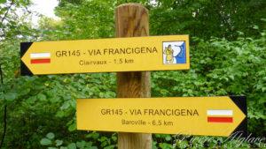 le GR145 entre Baroville et Clairvaux