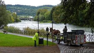Besançon, ramassage écologique des poubelles