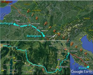 De Pontarlier (France) à Ballaigues (Suisse)
