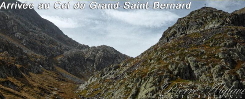 Arrivée au col du Grand-Saint-Bernard