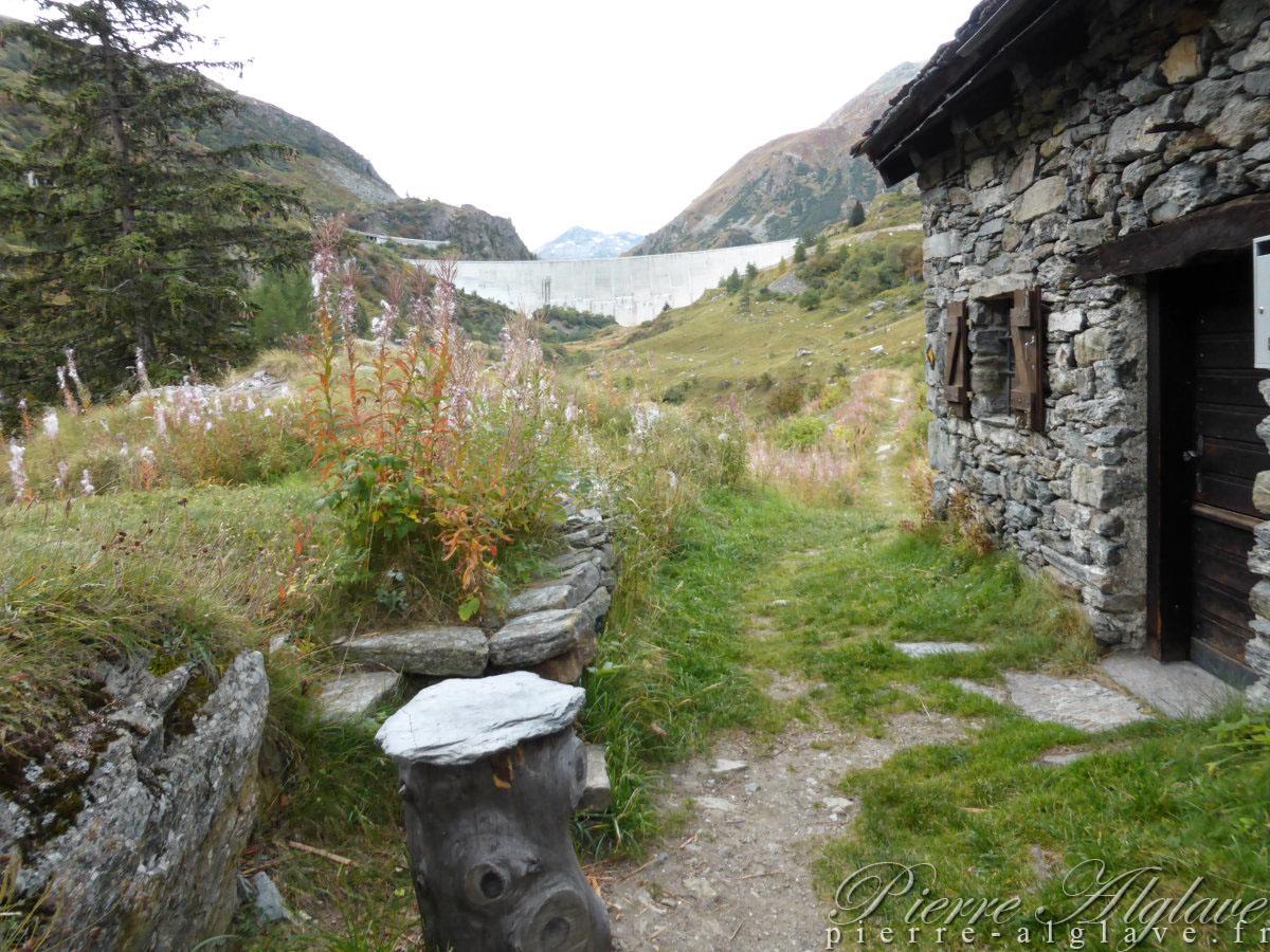 Alpage de Bretemort - Voute du barrage des Toules