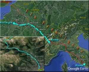 Du col du Grand-Saint-Bernard à Aoste