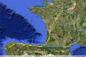 Itinéraire Voie de Tours et Camino Norte