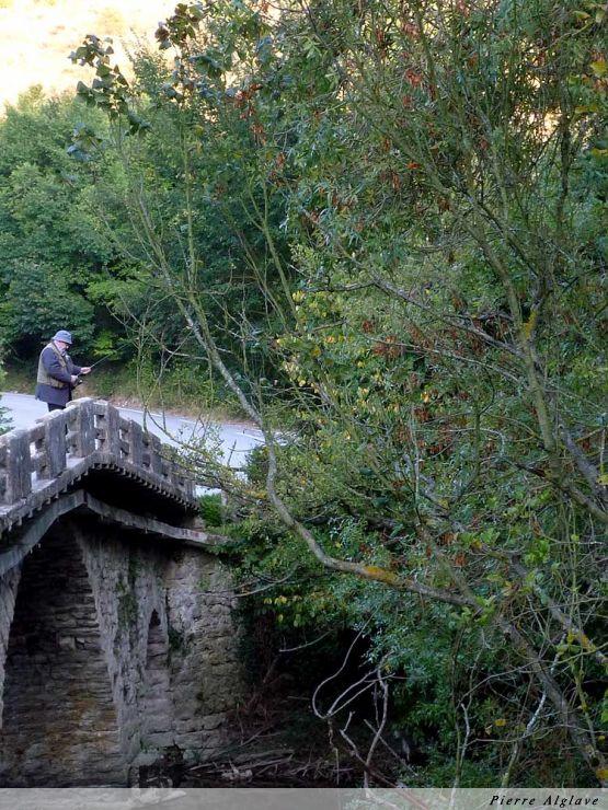 Pêche dans le rio Arga