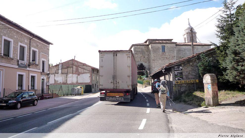 Villafranca, la route est dangereuse