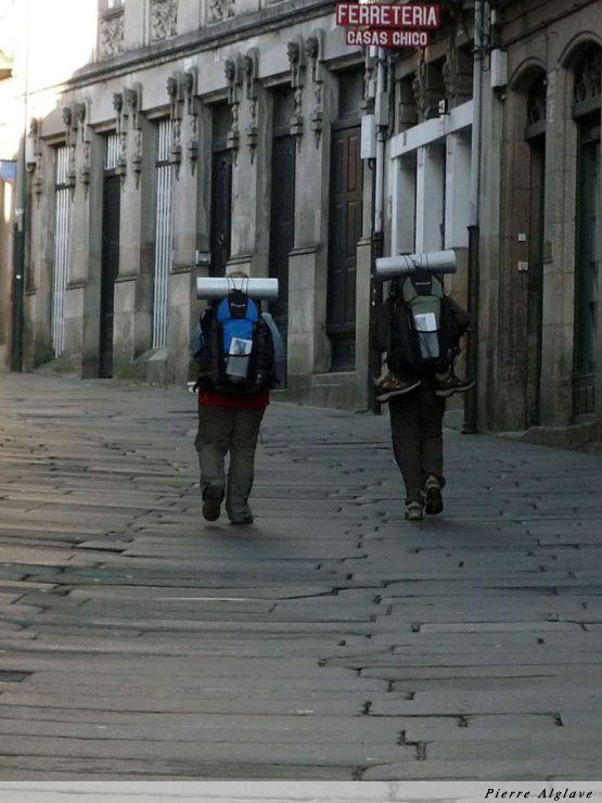 Santiago, arrivée des pèlerins