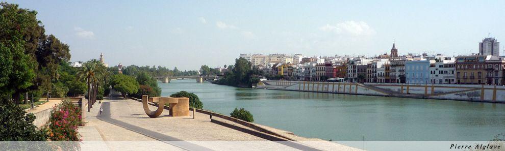 Vue sur le quartier de Triana à Séville