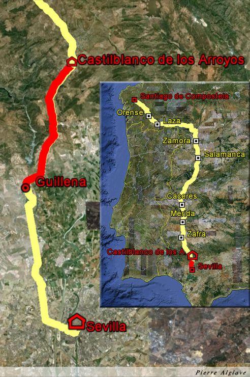 De Guillena à Castilblanco de los Arroyos : 41 km depuis Séville