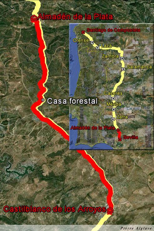 De Castilblanco de los Arroyos à Almaden de la Plata : 30 km