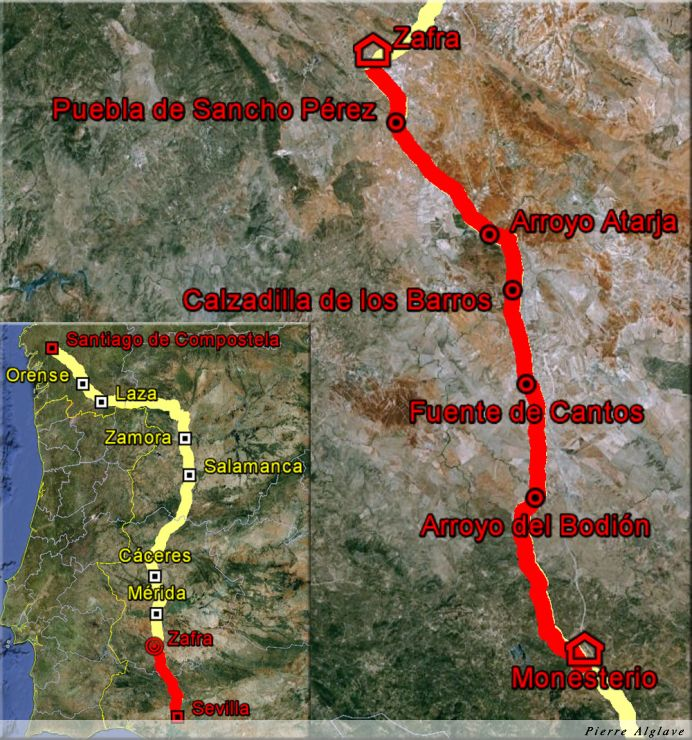 De Monisterio à Zafra : 48 km
