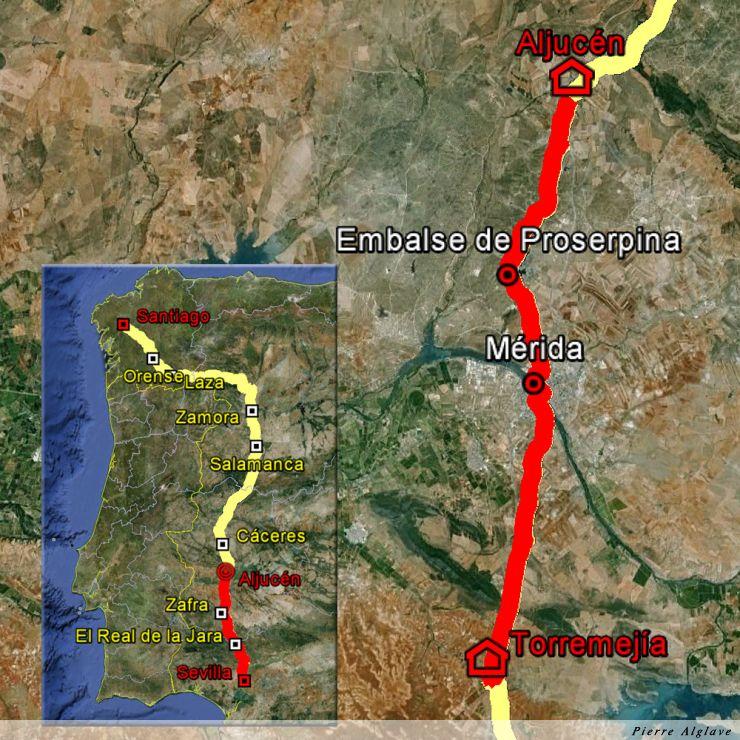 De Torremegia à Aljucen : 33 km