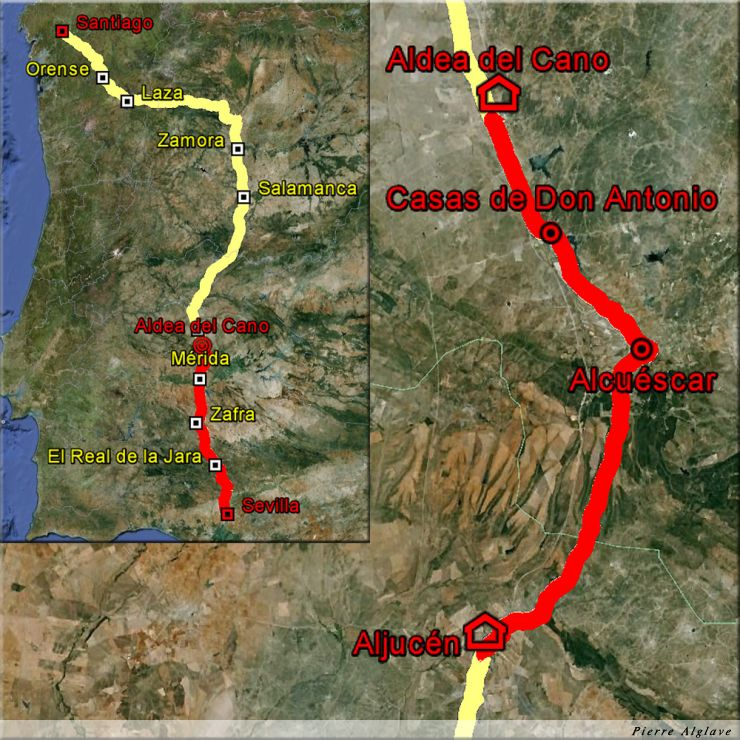 De Aljucen à Aldea del Cano : 39 km