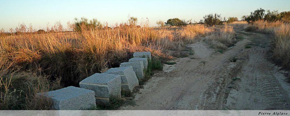 Bloc de pierre pour faciliter le passage à gué