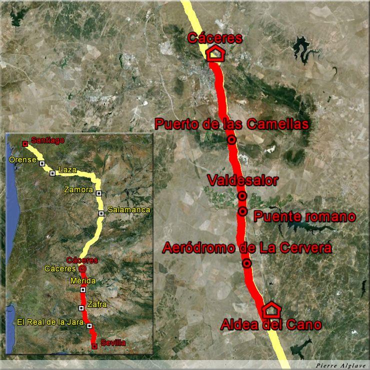 De Aldea del Cano à Caceres : 22 km