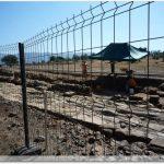 Les fouilles : on aperçoit l\'ancienne voie romaine