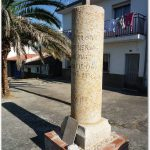 Borne moderne à Aldeanueva del Camino