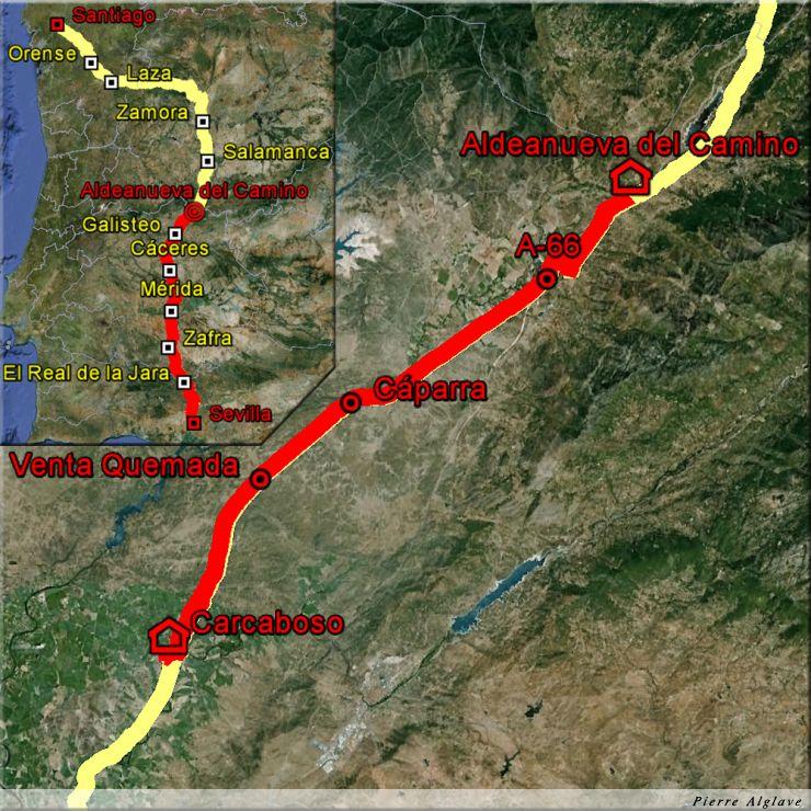 De Carcaboso à Aldeanueva del Camino : 38 km