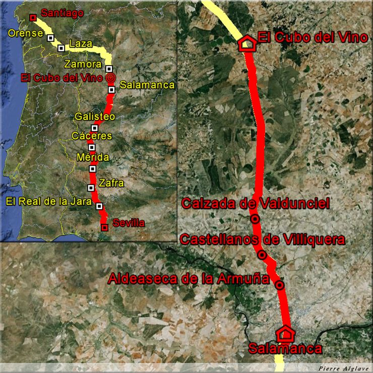 De Salamanque à El Cubo de la Tierra del Vino : 35 km