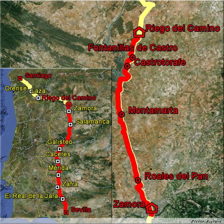 De Zamora à Riego del Camino : 33 km