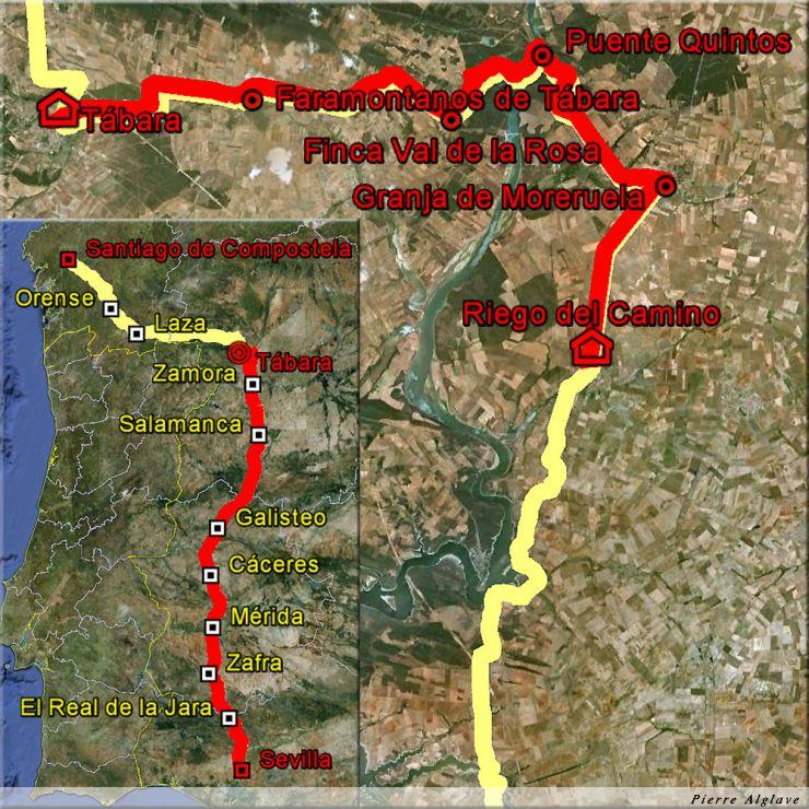 De Riego del Camino à Tabara : 34 km