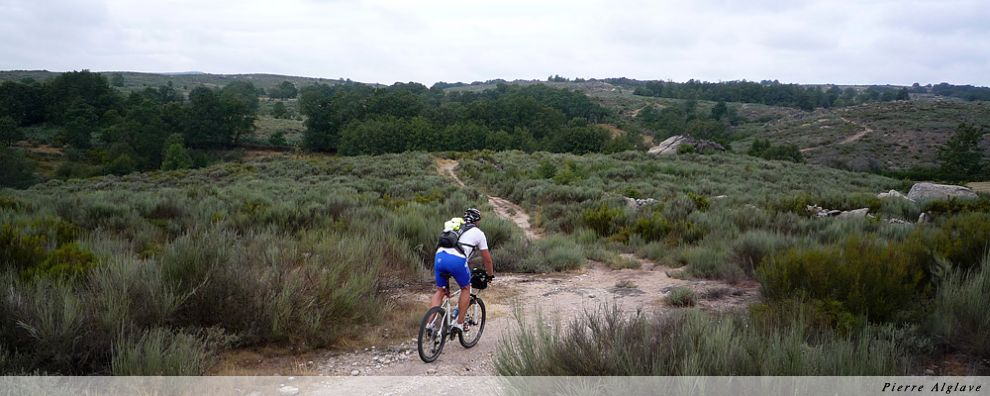 Cycliste sur la via de la Plata