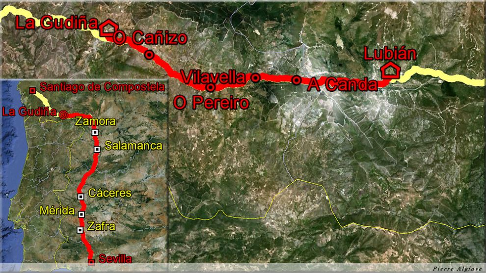 De Lubian à A Gudiña : 26 km