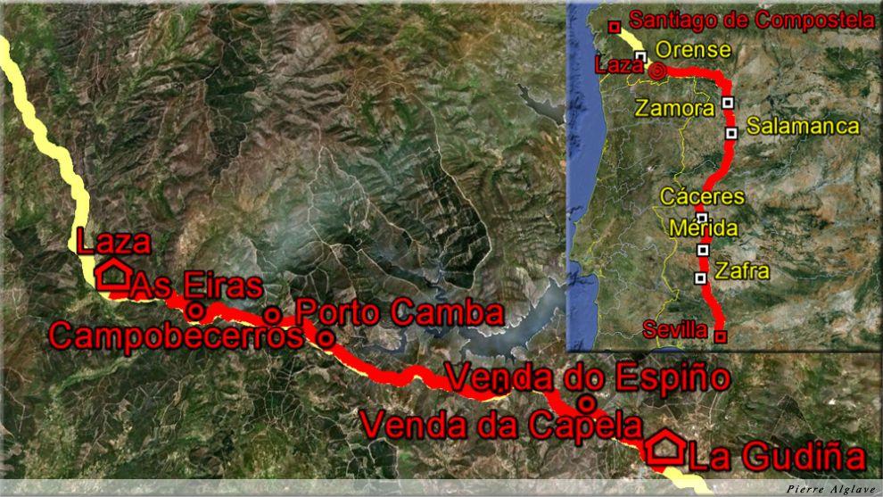 De A Gudiña à Laza : 34 km