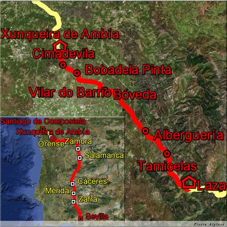 De Laza à Xunqueira de Ambia : 34 km