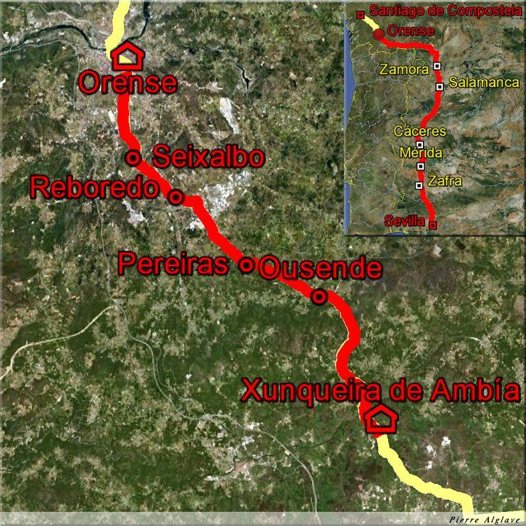 De Xunqueira de Ambia à Ourense : 21 km