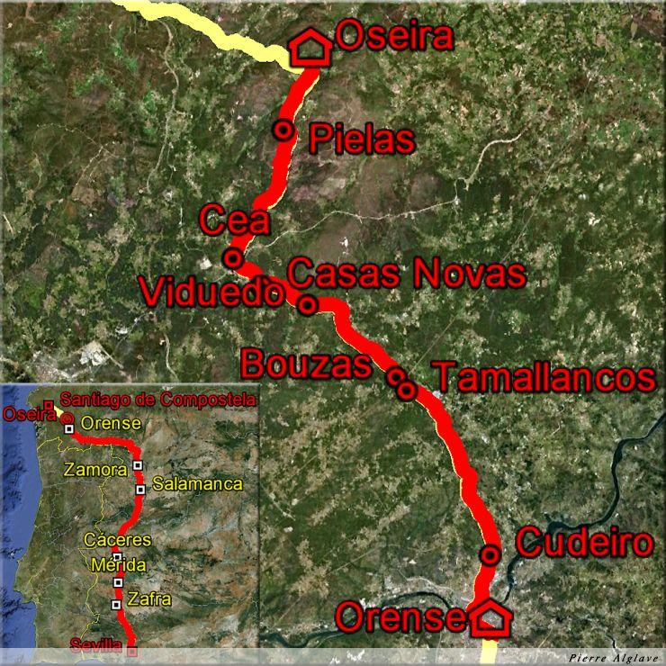 De Ourense à Oseira : 32 km