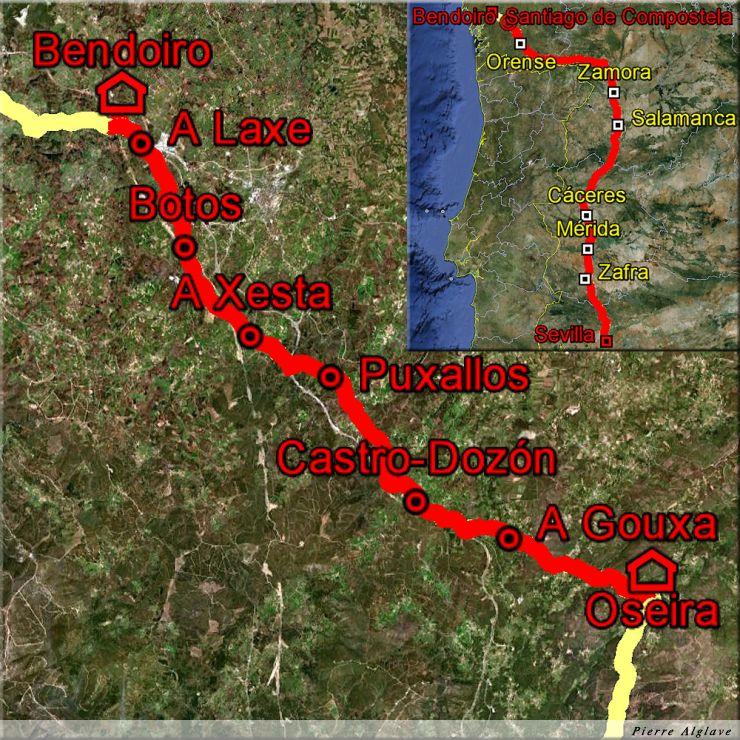 De Oseira à Bendoiro : 29 km