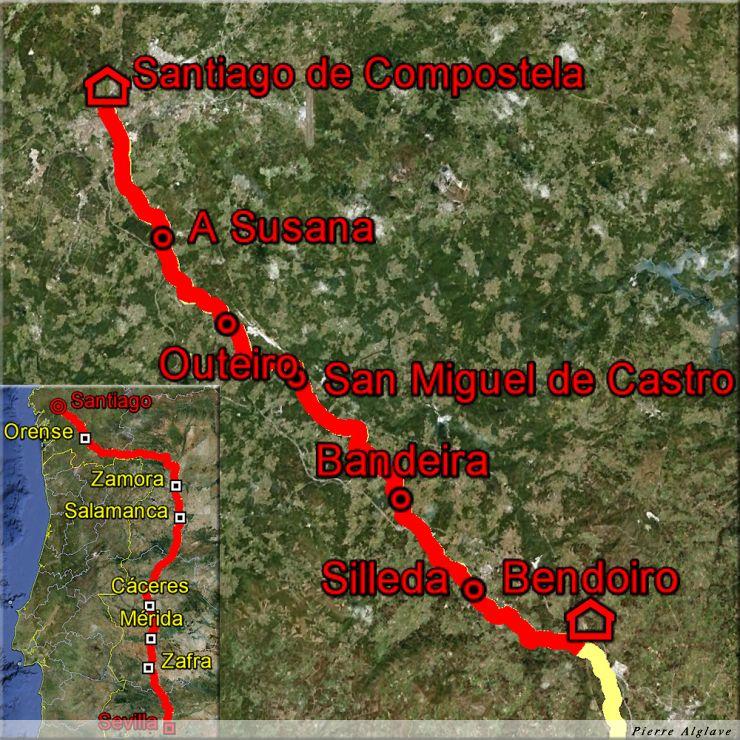 De Bendoiro à Saint-Jacques-de-Compostelle : 50 km